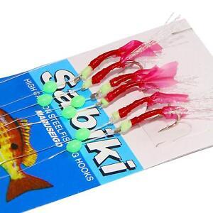 20packs Sabiki Fishing Rigs Saltwater Freshwater Fish Skin Sabiki Bait Rigs Lure