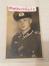 Nr 1 ) Foto/Fotopostkarte Wehrmacht mit Orden  WK 2 Portrait