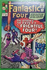Fantastic Four #36 1st App Medusa & Frightful Four 1965 Marvel VG