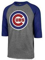 Chicago Cubs Mens '47 Brand Imprint Club 3/4 Raglan T-Shirt - XL & Large - NWT