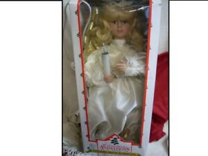 """1995 Christmas Animations 21"""" Animated & ILLUMINATED ANGEL in Box w/ Tag #3739"""