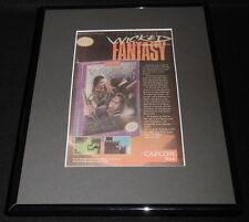 Willow 1993 Nintendo NES Framed 11x14 ORIGINAL Advertisement Warwick Davis