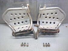 Yamaha 660 raptor GYTR aluminum heel guards OEM foot pegs & mount bolts 01-05