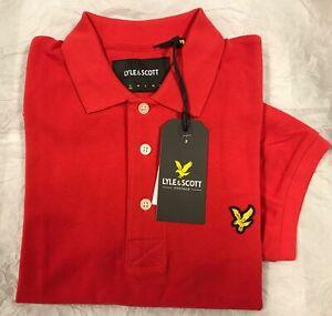 Lyle & Scott Cotton Plain Mens Short Sleeve Polo Shirt Small