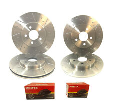 Mini Clubman 1.6 Cooper S 07- Front Rear Brake Discs & Pad Dimpled & Grooved