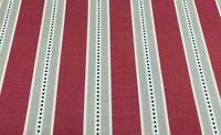 Holm Stripe Panama Cotton Raspberry Pink 140cm wide Oslo Curtain Fabric