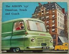 AUSTIN 152 OMNIVAN, TRUCK & COACH Sales Brochure c1956 #1307