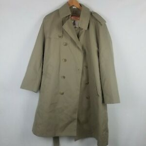 Misty Harbor Size 40 Short  Fleece Lined Trench Coat  Never used