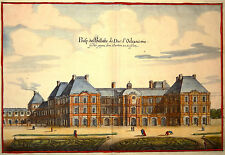 Gravure Kupferstich Print Caspar MERIAN Topographia Galliae Palais du Luxembourg