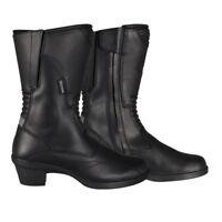 Oxford Valkyrie Leather Waterproof Touring Ladies Motorcycle Boots - Black