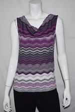 New Women Petite Tahari ASL Sleeveless Top Blouse Shirt PXS 8743