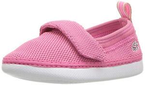 Lacoste Toddler Girls L.ydro Slip-On Shoe, Pink