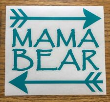 "Mama Bear Arrows 6"" Turquoise Car Vinyl Sticker Decal family kids mom cubs *D30*"
