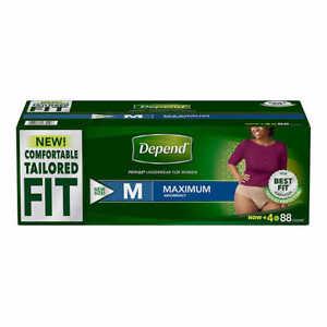 Depend FIT-FLEX Max Absorbency Underwear for Women (Medium) = 88-count