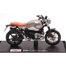 BMW R NINE T SCRAMBLER 2014 SILVER 1:18 Maisto Moto Die Cast Modellino