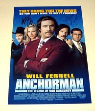 "ANCHORMAN PP X2 SIGNED POSTER 12""X8"" WILL FERRELL & STEVE CARELL"