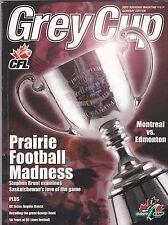2003 CFL  GREY CUP PROGRAM,MONTREAL ALOUETTES--EDMONTON ESKIMOS