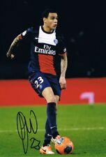 Signed Gregory Van Der Wiel Paris Saint-Germain Photo Holland Ajax Cagliari