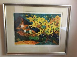 """Guy Charon """"Provence"""" Lithograph Numbered and Signed Authenticated"""