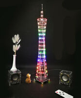 LED DIY Kit Mini Tower Music Cube Model Display Wireless Remote Electronic Light