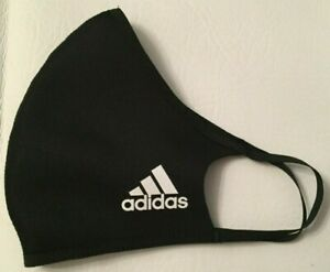 1 BLACK ADIDAS FACE MASK REUSABLE FACE COVER ADULT SIZE M/L FITS MOST ADULTS 1X