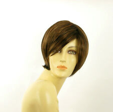 short wig for women chocolate copper wick clear ref: CECILIA 627c PERUK