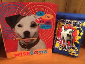 90s PBS Wishbone the Dog 3 Ring Binder & Thermos Lunch Box Sack