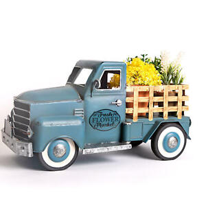 Members Mark  Pre-Lit LED Vintage Blue Spring Truck With Flowers, new in box