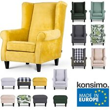 KONSIMO - MILES Sessel Ohrensessel Wohnzimmersessel Couchsessel Fernsehsessel