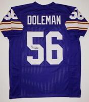 Chris Doleman Autographed Purple Pro Style Jersey With HOF- SGC Authenticated