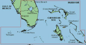 Garmin Blue Chart Southeast Florida w Bahamas MUS010R Data Card Chart Map Chip