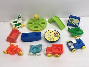 Bundle Vehicles & Accessories For Figurines Fisher Price Little People Vintage