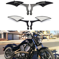 Motorcycle Blade Side Mirrors Custom 8mm 10mm Black For Victory Vegas Hammer MT