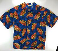 Hawaiian tropic shirt collared size large L mens Hawaii floral