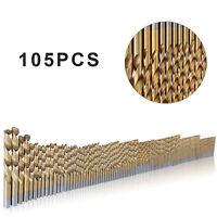 105pcs Cobalt Drill Bits Set for Stainless Steel Metal HSS-Co Cobalt New