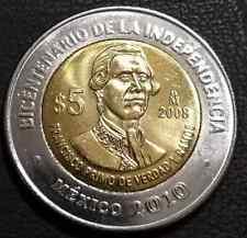 5 pesos Mexico Francisco Primo de Verdad y Ramos 2008 UNC