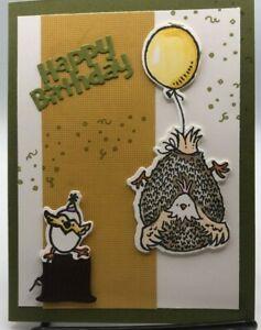 Stampin Up Birthday Card Spring Chicken Handmade