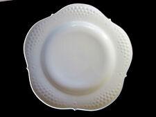 Großer Meissen Porzellan Teller weiß mit Relief,Ø ca. 25,5 cm, 1 Schleifstrich