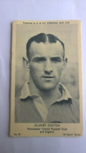 A & B C Bubble Gum All sport series #59 Allenby Chilton Man United and England
