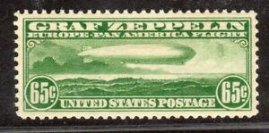 C13 65c 1930 ZEPPELIN XF SUPERB OG NH GEM
