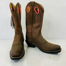 Women's Ariat Heritage Rancher Mustang Mud Brown Leather Western Boot Size 6B