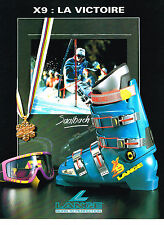 PUBLICITE ADVERTISING  1991   LANGE  chaussures de ski 2