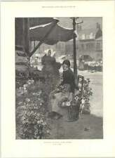 1890 Flower And Vegetable Market Boulogne