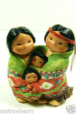 Friends of Feather Enesco 1994 People of One Feather Indian Family Figurine new