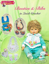 Crochet baby booties and bibs pattern Annie Potter