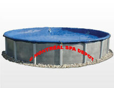 WINTER COVER DELUXE for above ground pool, round 18' w/ ratchet & cable system