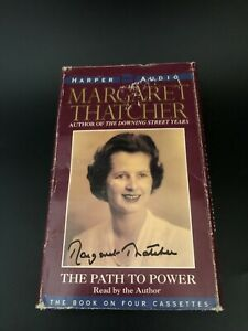 Signed Margaret Thatcher The Path to Power 4 Audio Cassettes