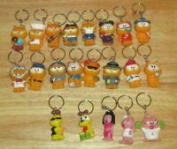 Garfield & Friends Cartoon Lot of 21 Collectible Keychains VTG ODIE ARLENE