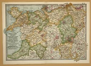 Original  Encyclopaedia Britannica Map from 1903 England & Wales Section V
