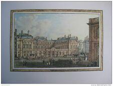 reproduction gravure vue de la place du Palais Royal 1754 - 1826